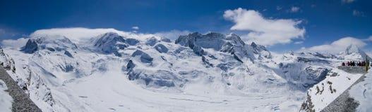 Cervinia Ski Day. Sunny ski day on cervinia-zermatt's slopes Royalty Free Stock Images