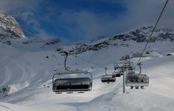 Cervinia skiing Stock Photo