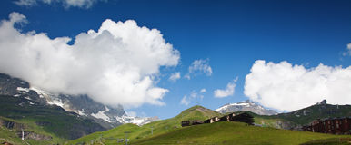 Cervinia, Valle d'Aosta, Italy Stock Image