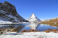 Cervino en Zermatt, Suiza Foto de archivo libre de regalías