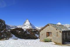 Cervino en Zermatt, Suiza Fotos de archivo