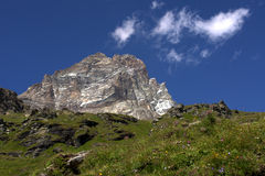 Cervino Mountain. In Aosta Valley against the blue sky Royalty Free Stock Photos