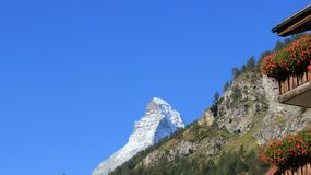 Cervino Rocky Mountains And Balcony imagen de archivo libre de regalías