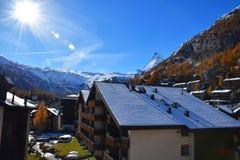 Cervino Suiza máxima alpina Imagen de archivo libre de regalías