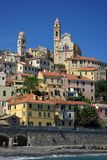 Cervo. View of the medieval village, Cervo, Ligurian, Italy Royalty Free Stock Photos