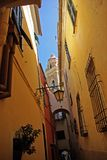 Cervo. View of the medieval village, Cervo, Ligurian, Italy Stock Photo