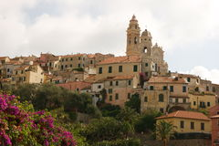 Cervo. Photo of the medieval village: Cervo Stock Image