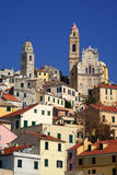 Cervo. Ancient village of Italy Stock Images