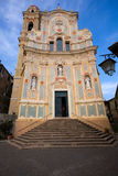 Cervo church. Entrance to the church of Cervo, Imperia, Italy Royalty Free Stock Image