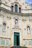 Cervo church in Italy. Medieval baroque church of St. John of Cervo, Italy Stock Photo