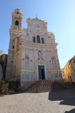 Cervo kyrka, Liguria, Italien Arkivbild