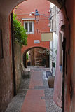 Cervo ligure. A typical alley in Cervo Royalty Free Stock Image