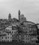 Cervo Ligure. A view from the bottom of Cervo Ligure Stock Photography