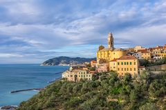 Cervo - medieval hilltop town, Liguria, Italy. Cervo - medieval hilltop town located on Ligurian coast, province of Imperia, Liguria, Italy Stock Image