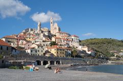 Cervo, Medieval village, Italy royalty free stock images