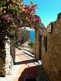 Cervo. Medioeval village overlooking the blue sea Royalty Free Stock Photo