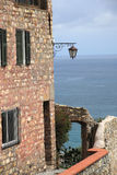 Cervo old town and the Mediterranean Stock Photo