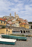 Cervo old town viewed from beach Stock Image