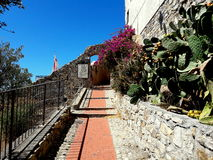 Cervo. The quiet of a pathway that goes to the sea Stock Photo