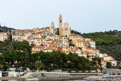 Cervo. Is a unique town in liguria, italy Royalty Free Stock Photos