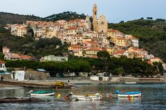 Cervo. Is a unique town in liguria, italy Royalty Free Stock Images