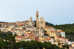 Cervo. Is a unique town in liguria, italy stock image