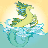 Cervo volante del mare Horse Ippocampo mitologico La serie di creature mitologiche Immagini Stock
