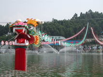 Cervo volante gigante del drago Immagine Stock