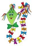 Cervo volante verde isolato Royalty Illustrazione gratis