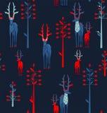 Cervos antlered e árvores da fantasia Fotografia de Stock