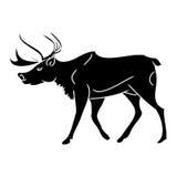 Cervos cinzentos (silhueta) Imagens de Stock