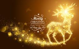 Cervos da mágica do Natal ilustração royalty free