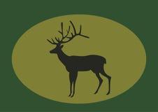 Cervos da silhueta ilustração royalty free