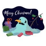 Cervos de Santa Claus Saint Nicholas do avô da arte do vetor do boneco de neve ilustração royalty free