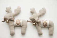 Cervos de uma tela para o Natal Foto de Stock Royalty Free