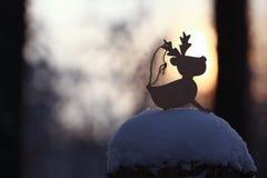 Cervos do brinquedo do Natal Imagens de Stock Royalty Free