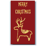 Cervos do cartão de Natal Fotografia de Stock