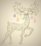 Cervos do Natal Imagem de Stock