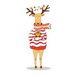 Cervos do Natal Ano novo feliz rena Imagem de Stock
