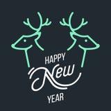 Cervos do Natal da ilustração Imagens de Stock Royalty Free