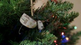 Cervos do Natal no fundo do Natal video estoque