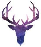 Cervos do Natal Silhueta da aquarela Ilustração do vetor Fotografia de Stock Royalty Free