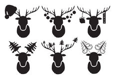 Cervos do Natal Um grupo de cervos pretos Imagens de Stock Royalty Free