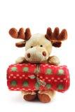 Cervos dos alces do Natal fotografia de stock royalty free