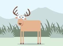 Cervos dos desenhos animados Imagem de Stock