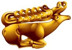 Cervos dourados Ilustração do Vetor