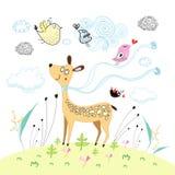 Cervos engraçados ilustração stock