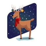 Cervos engraçados do Natal Fotografia de Stock