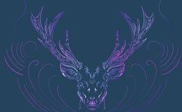 Cervos místicos do fundo foto de stock royalty free
