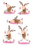 Cervos preguiçosos Set_eps Fotografia de Stock